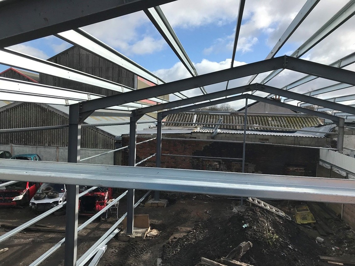 Steel Portal Frame Building ideal for an MOT station